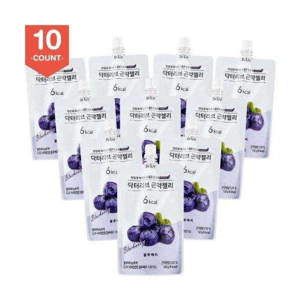 DR.LIV 低糖低卡蒟蒻果冻 蓝莓味 150g x10个