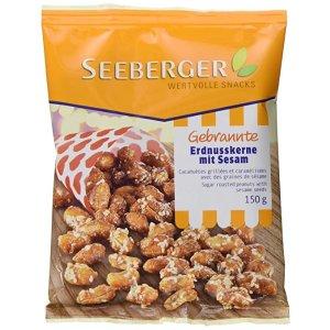 SEEBERGERGebrannte Erdnusskerne mit Sesam, 12er Pack (12 x 150 g)
