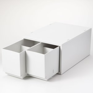 Muji白色抽屉组 26x37x17.5cm