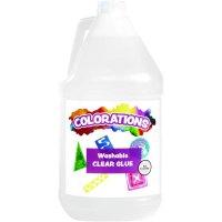 Colorations 超强多用途学生胶水1加仑大桶装 透明可洗