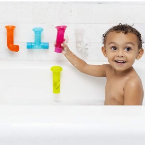 $12.98(原价$20)Boon 彩色水管洗澡玩具套装特卖 让宝宝快乐地洗澡