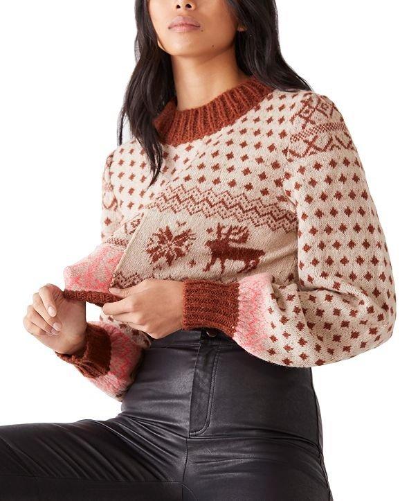可爱短款针织毛衣