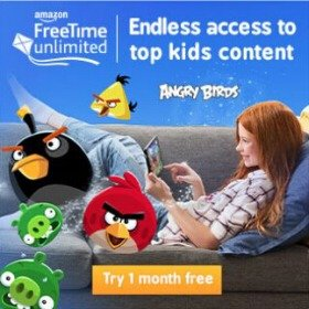 1-Month Free TrialAmazon FreeTime Unlimited all-in-one subscription for kids