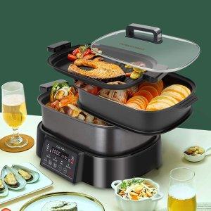 €95就收!享受多种美味!Taylor Swoden 3合1蒸烤锅 可作烧烤架、蒸锅、慢炖锅
