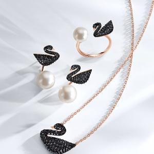 全线8折 粉晶天鹅€63收Swarovski 经典天鹅系列大促 项链、手镯、耳环热卖中