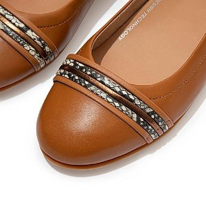 FitFlop$30 off $150Snake-Bangle Leather Ballet Flats