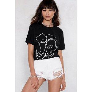 Nasty Gal图案T恤
