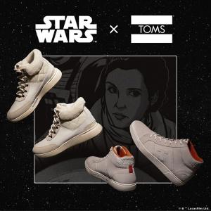 第二季新款上市 €45起Toms X 星球大战合作限量鞋款上市 星战迷全家总动员