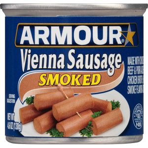 烟熏味香肠罐头$13.25+包邮Armour 烟熏味香肠罐头,24罐装仅$13.25