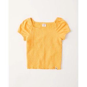 Abercrombie & Fitchshort-sleeve smocked top