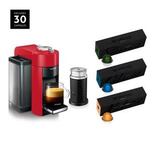 $114.99Nespresso Vertuo 浓缩胶囊咖啡机+30粒胶囊超值套装