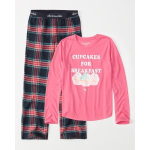 7b2374c4c Qualifying kids merchandise purchases only. Free shipping. Abercrombie &  Fitchgirls long-sleeve pajama set | girls 30% Off Select Styles