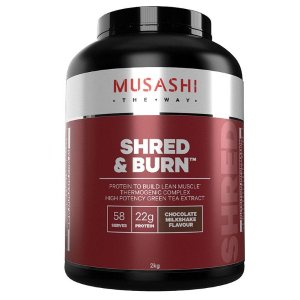 Musashi左旋肉碱蛋白粉 Shred And Burn Chocolate 2kg