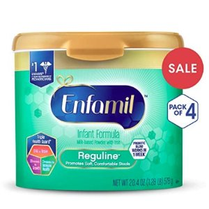 35% Off Enfamil Reguline Infant Formula - Designed for Soft, Comfortable Stools - Reusable Powder Tub, 20.4 oz (Pack of 4) @ Amazon