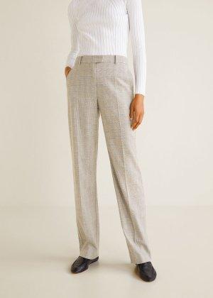 Check suit pants -  Women   MANGO USA