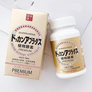 2瓶日本包邮含税到手价€65Dokkan Premium 植物酵素 强效香槟版 排毒纤体不腹痛