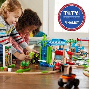 3折特价 折后仅€18.04 原价€59.9Fisher-Price FXG14 木制玩具小镇 3岁以上适用