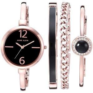 Anne KleinWomen's AK/3290 Bangle Watch and Swarovski Crystal Accented Bracelet Set