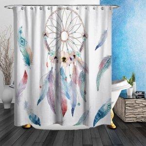 $23.79(原价$27.99)ZHH 捕梦网浴室浴帘 给洗澡带来好心情 180*180CM
