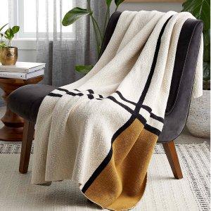4折起 $9.99收柔软放松毯Simons 薄毯热卖 文艺风格窝家好物 来自魁北克的法式温暖