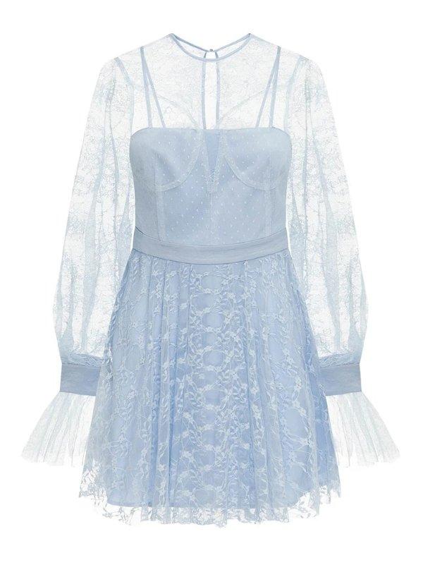 Craft 蕾丝淡蓝色连衣裙