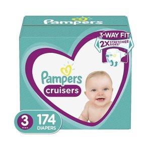 $43.62起Pampers Cruisers 系列 婴幼儿尿不湿特卖,3-7号都有