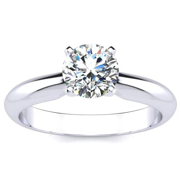 1 克拉莫桑石戒指
