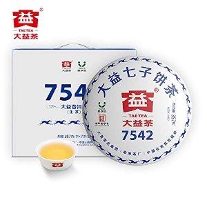 TAETEA大益经典7542大饼普洱生茶 357g