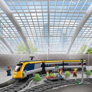7折 €89.1(原价€126.71)Lego 乐高城市系列客运火车 60197 支持手机遥控