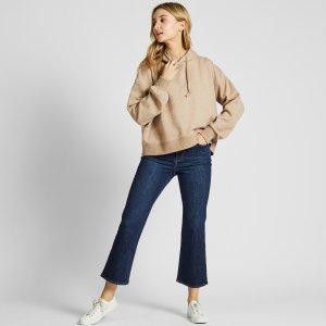 Uniqlo新款 微喇叭牛仔裤