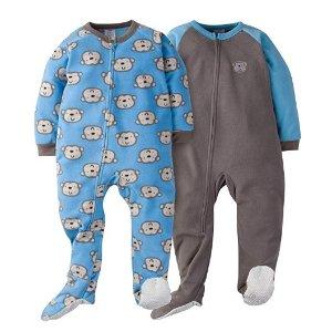 $6.5(原价$12.99)Gerber 男宝宝睡衣2件装,多款可选