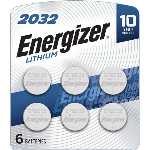 $5.12Energizer CR2032 Batteries, 3v Lithium 2032 Watch Battery, (6 Count)