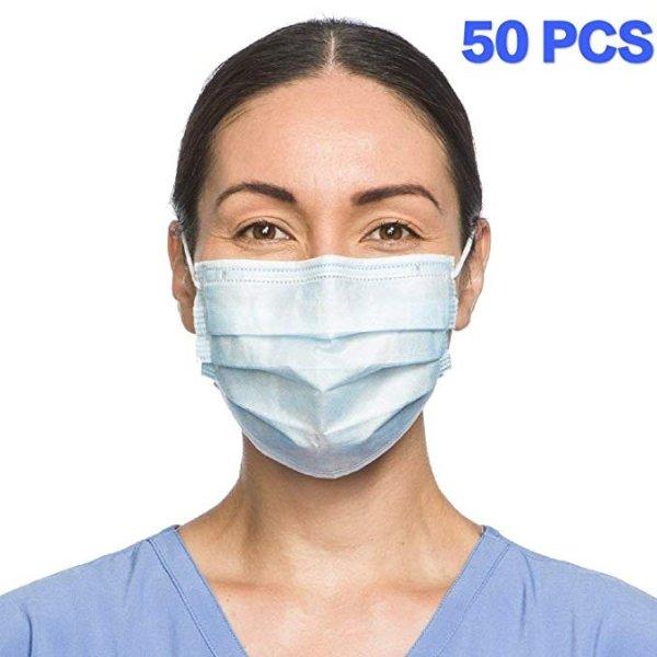 一次性医用口罩3层口罩 独立包装50p