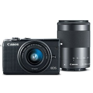 闪购:Canon EOS M100 + 15-45mm + 55-200mm 无反相机套装