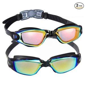 $14.99EverSport 紫外线防护游泳镜 2副