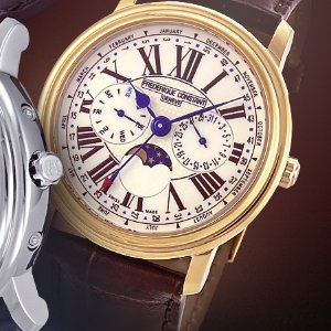 Extra $100 OffFREDERIQUE CONSTANT Classics Moon Phase Men's Watch 2 styles