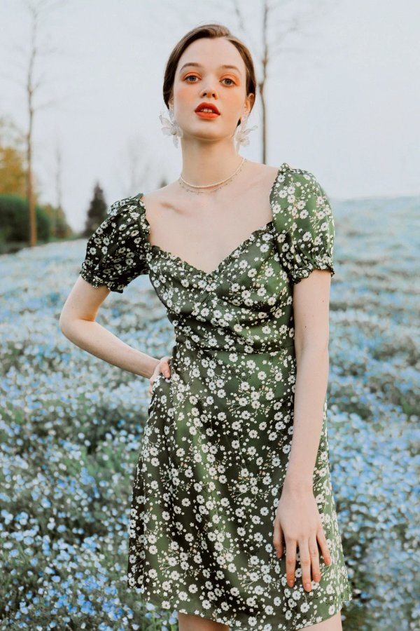 Maisy碎花裙 - Green Floral