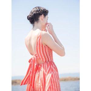 BellenistaClemente 条纹连衣裙