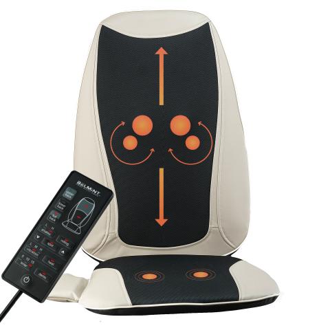 Belmint 加热按摩椅垫 从肩颈按到臀部 全身享受