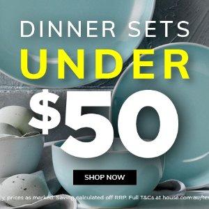 低至3折 部分享最高满减$50House官网 $50以内的餐具套装大清仓 超值12件套带回家