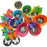 Skoolzy 蝴蝶计数排序玩具