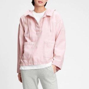 Gap100%棉,2色可选玫瑰粉外套