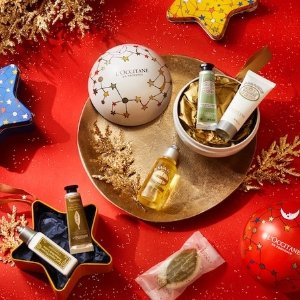 FREE THREE festive crackerswith $125 + Free Shipping purchase @ L'Occitane