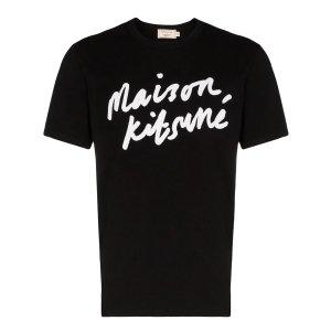 Maison Kitsunelogo-print cotton T恤