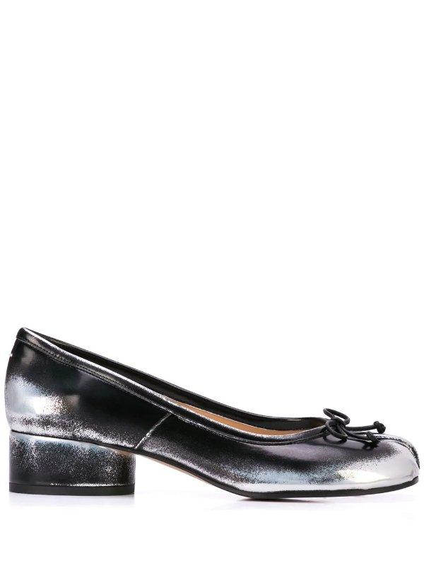 金属色分趾鞋