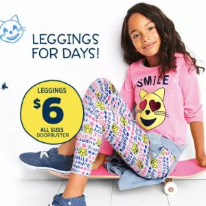 $6 All Size Doorbuster+ + Fun Cash Leggings for Days @ OshKosh BGosh