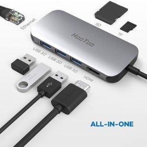 $17.99HooToo USB C Hub 7合1 USB-C 擴展塢