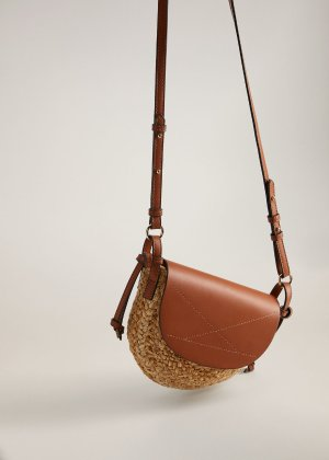 Jute cross-body bag -  Women | Mango USA