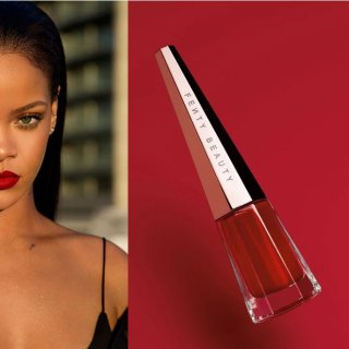 $25.2 一款适合所有肤色的唇釉Fenty Beauty 液态唇彩 有一种红叫蕾哈娜红