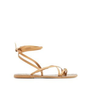 Ancient Greek SandalsMorfi beige leather sandals